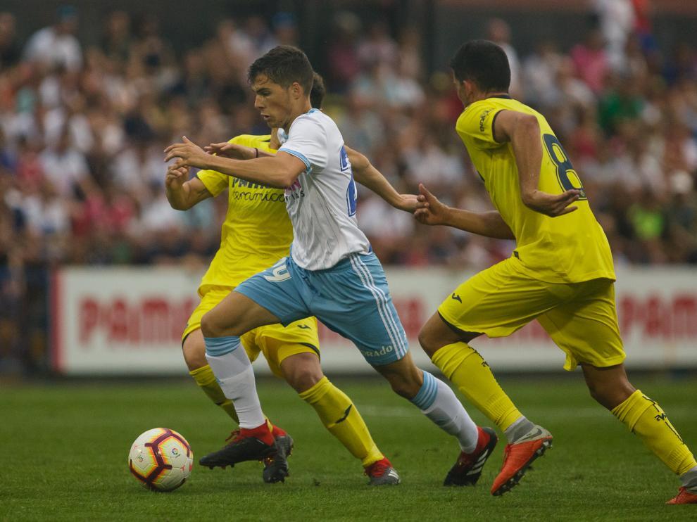 Imagen del partido del Real Zaragoza ante el Villarreal.