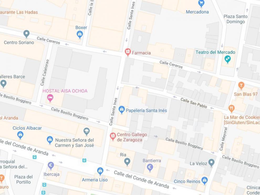 El atropello tuvo lugar en la calle San Pablo de Zaragoza.