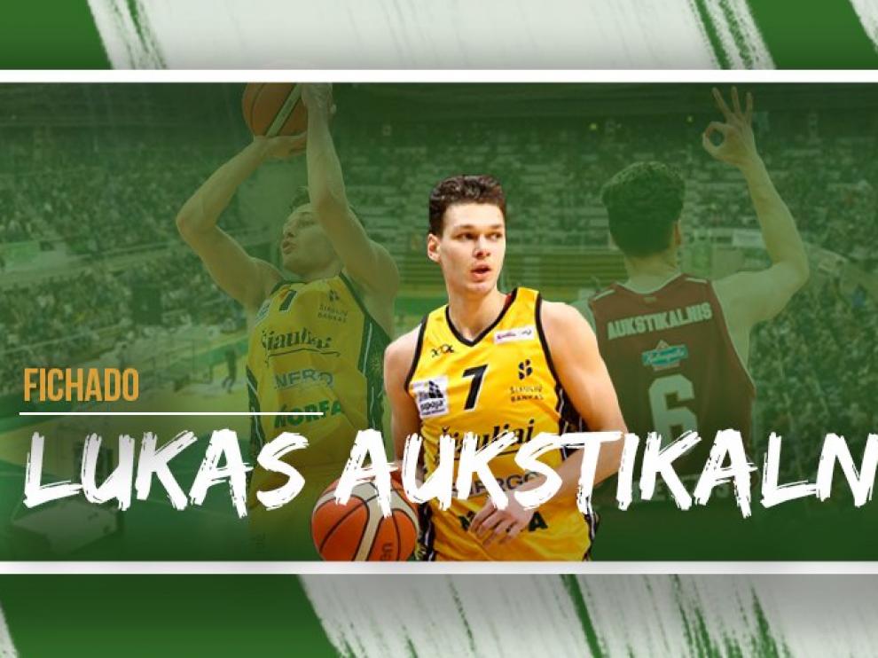 El jugador lituano Lukas Aukstikalnis, nuevo fichaje del Levitec Huesca.