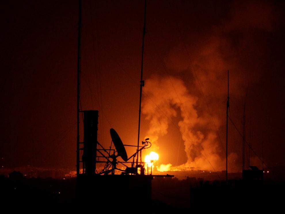 Bombardeos en Gaza esta madrugada.