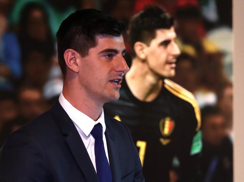 Thibaut Courtois, durante su presentación como nuevo jugador del Real Madrid.