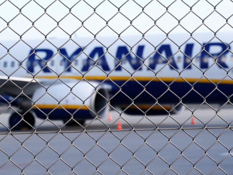 Un avión de la compañía Ryanair.