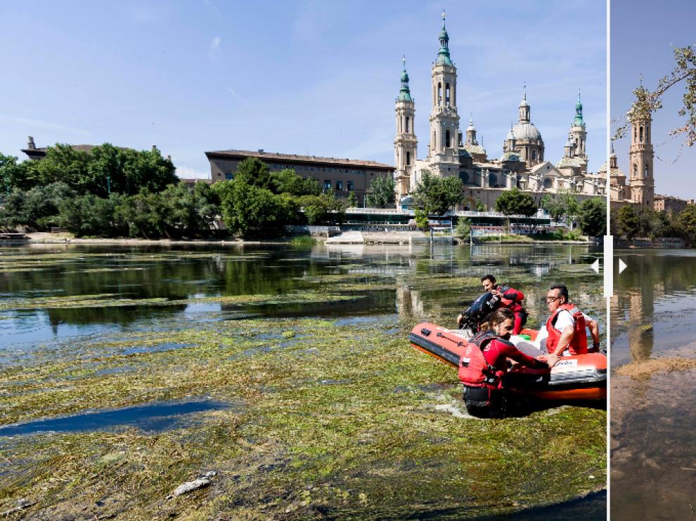El Ebro, antes y después.