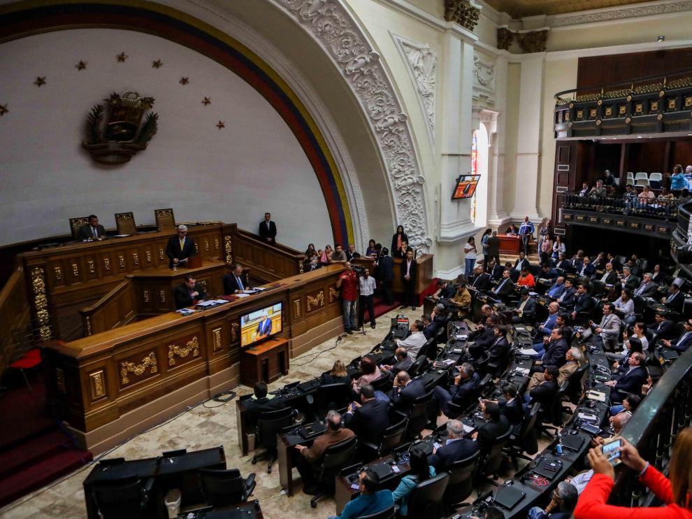 Vista de una sesión parlamentaria en Venezuela.