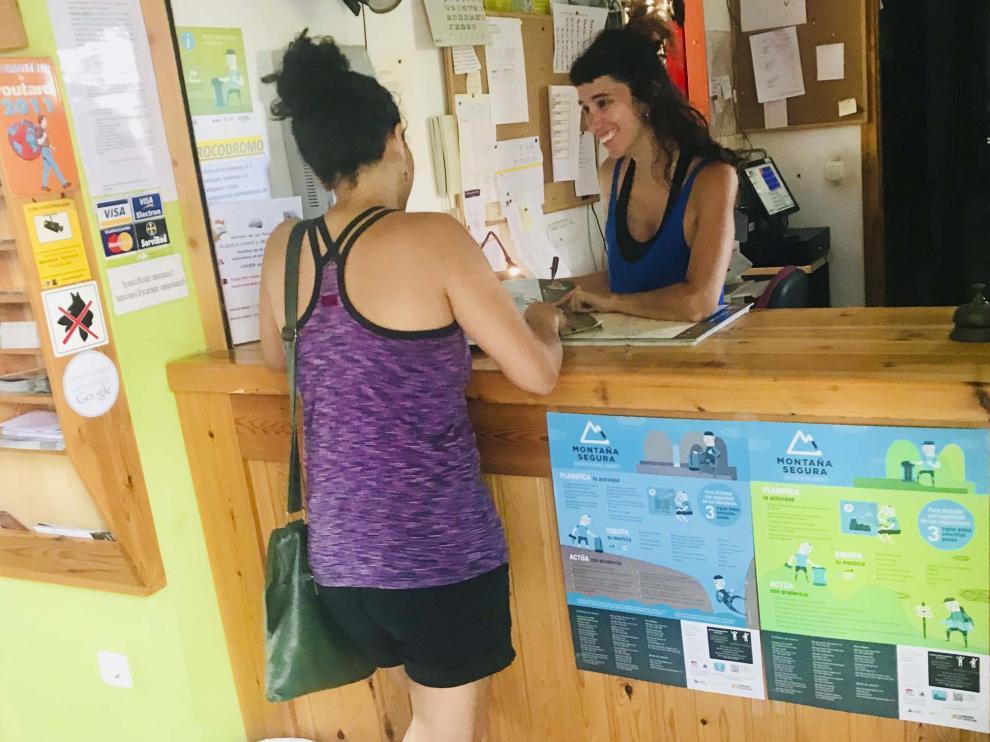 Punto de la Red de Informadores Voluntarios en Alquézar.