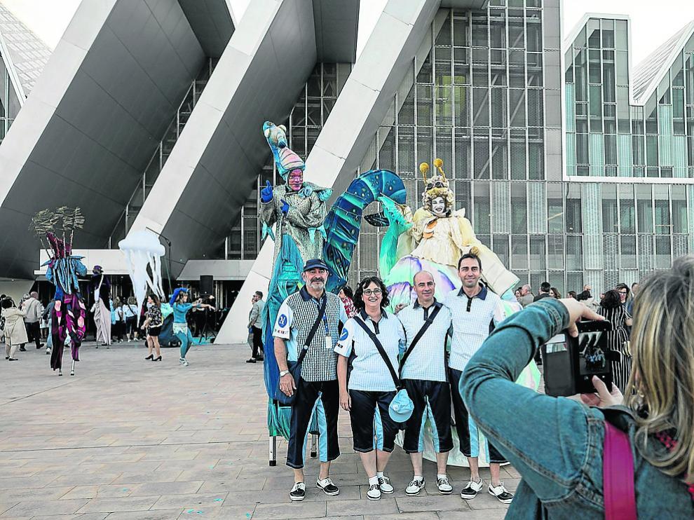 Voluntarios y animación en la gala que se celebró hace un mes y medio en el Palacio de Congresos.