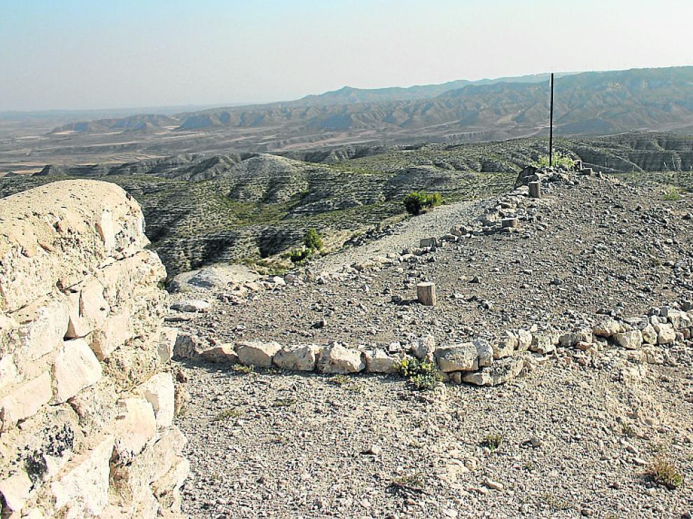 Vista general del estado actual del yacimiento de Los Collados.