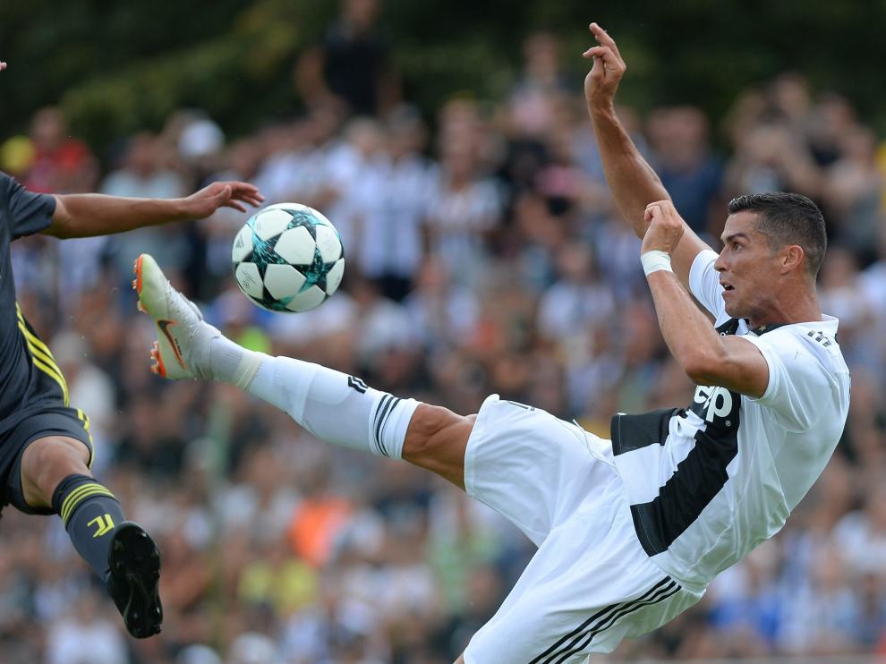 Cristiano Ronaldo debutando con el Juventus.