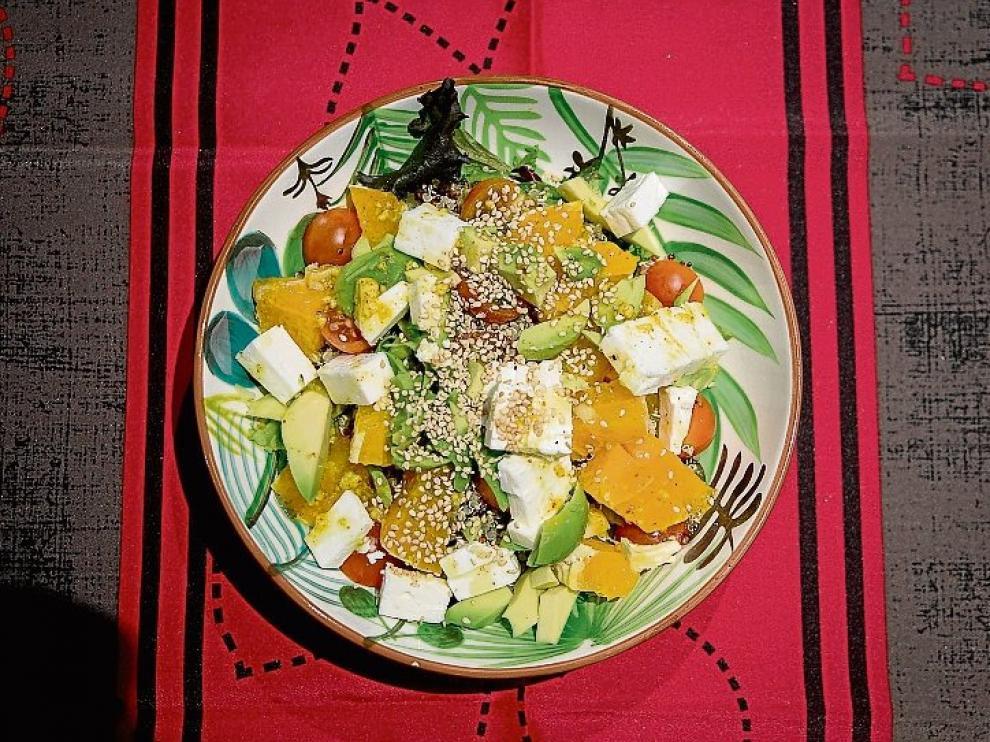 La ensalada de quinoa que prepara Isabel Macías.