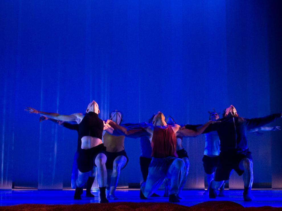Un momento del espectáculo 'Terrenal', de la compañía de danza zaragozana La Mov