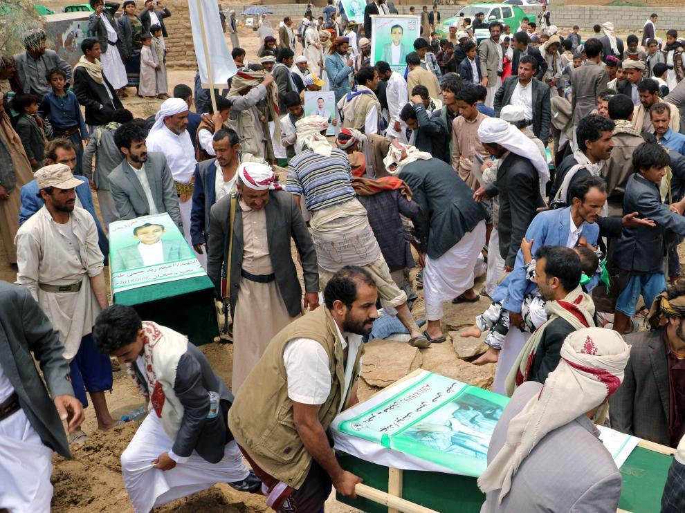 Ataque aéreo perpetrado la pasada semana en Yemen por parte de Arabia Saudí.