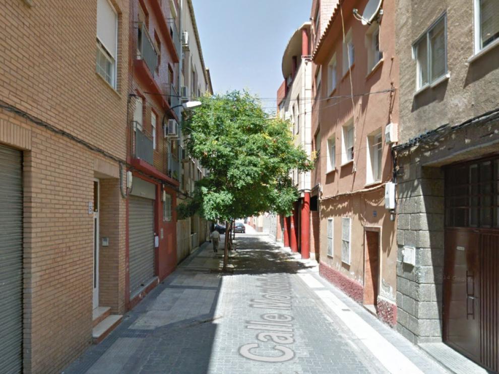 Calle Montañés, en el barrio de Delicias.