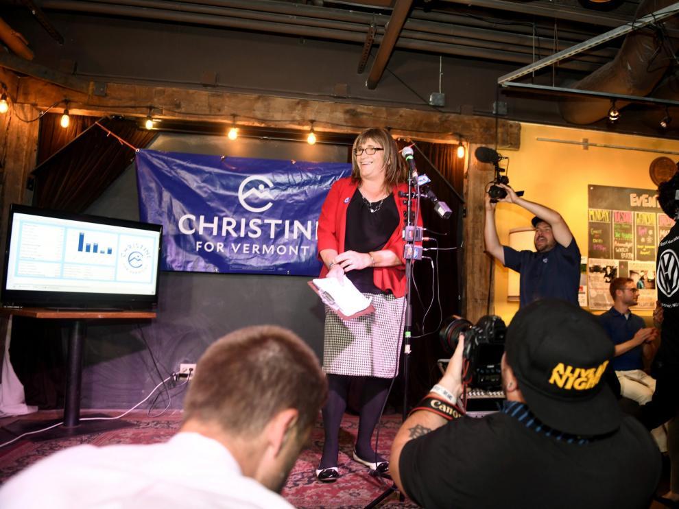 Christine Hallquist ha logrado la victoriaen las primarias para la Gobernación de Vermont.