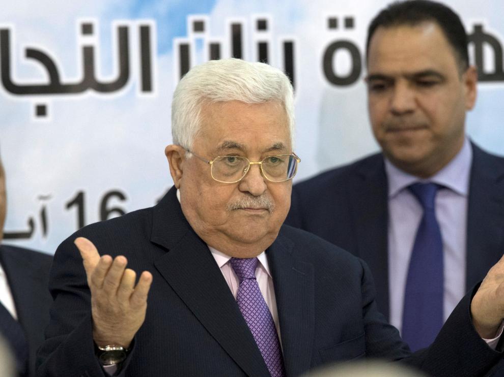 El presidente de Palestina, Mahmud Abás.