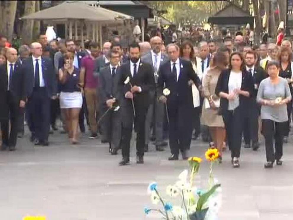 Barcelona homenajea a las víctimas del atentado