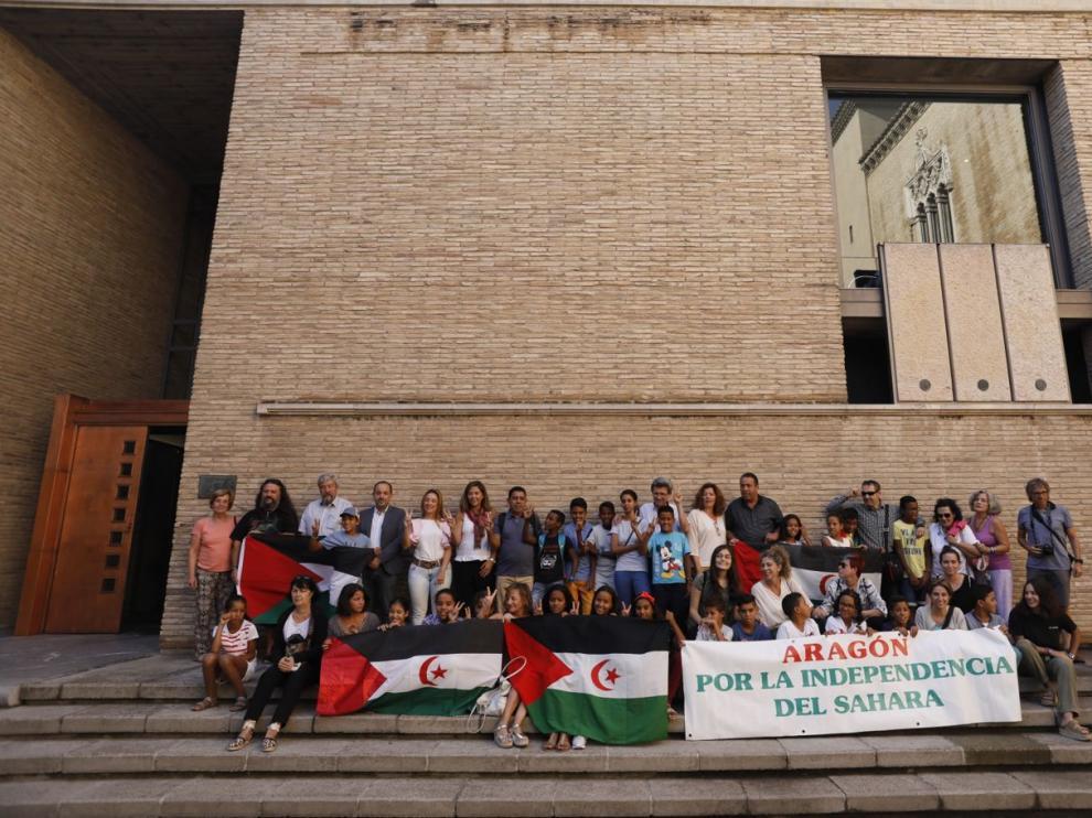 Visita de los niños saharauis al Palacio de la Aljafería