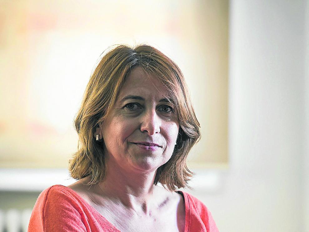 Maite Lanzán, en el Hospital Psiquiátrico de Zaragoza.