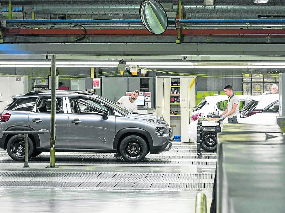 Cadena de montaje de Opel en Figueruelas.