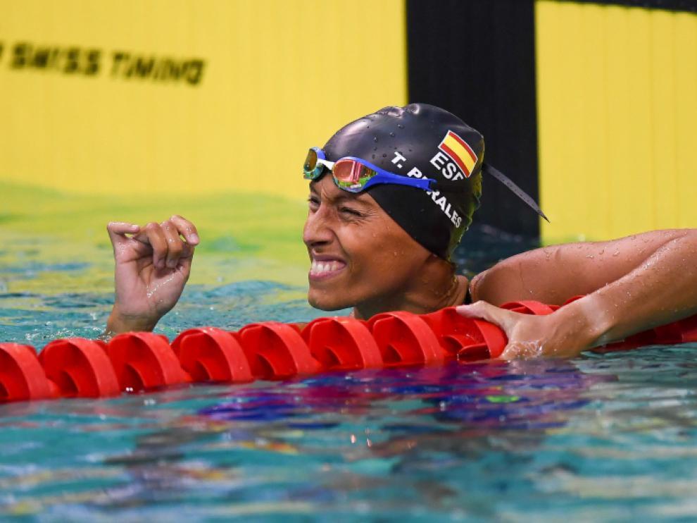Teresa Perales suma tres medallas es el Europeo de Dublín.