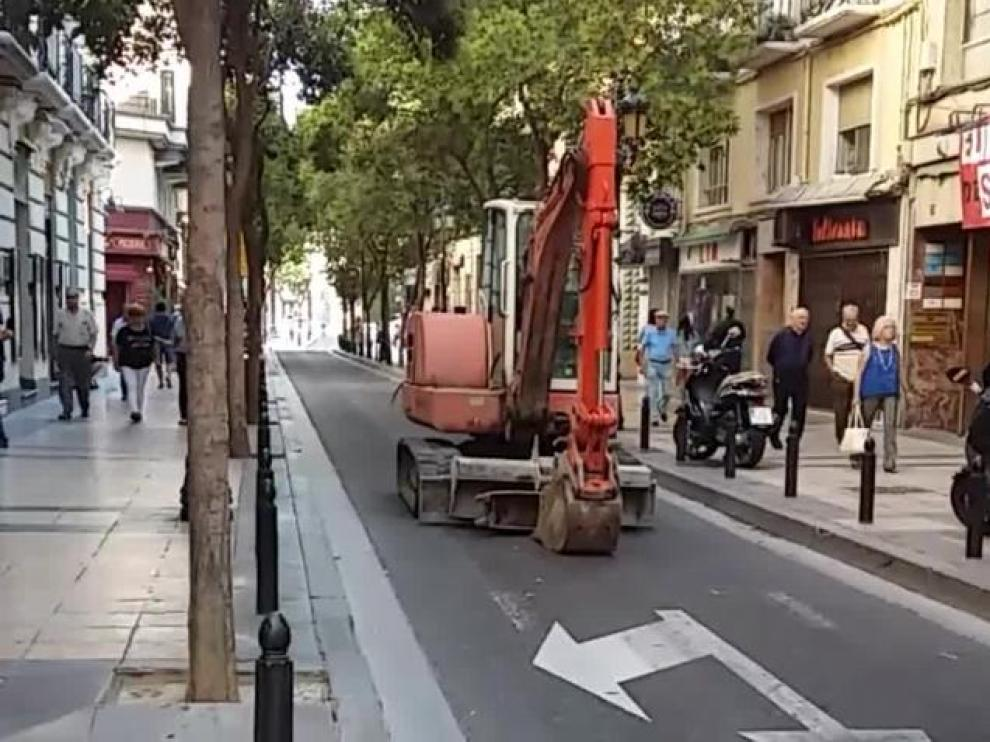 La calle de Don Jaime de Zaragoza.