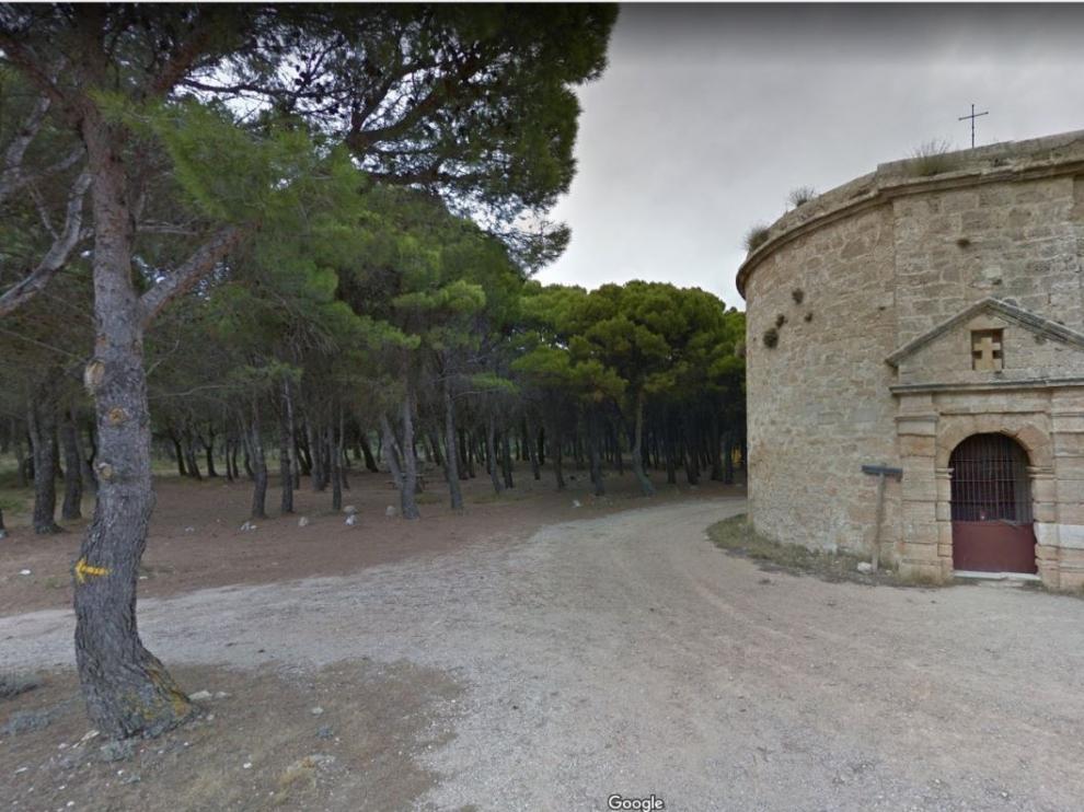 Ermita del calvario, en el santuario de Misercordia de Borja, ubicada en un cerro con grandes panorámicas.