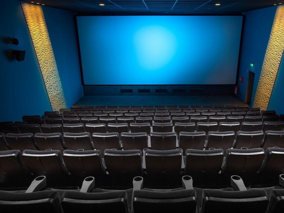 Foto de archivo de una sala de cine.