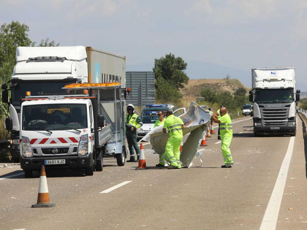 Accidente en la autovía entre Huesca y Zaragoza