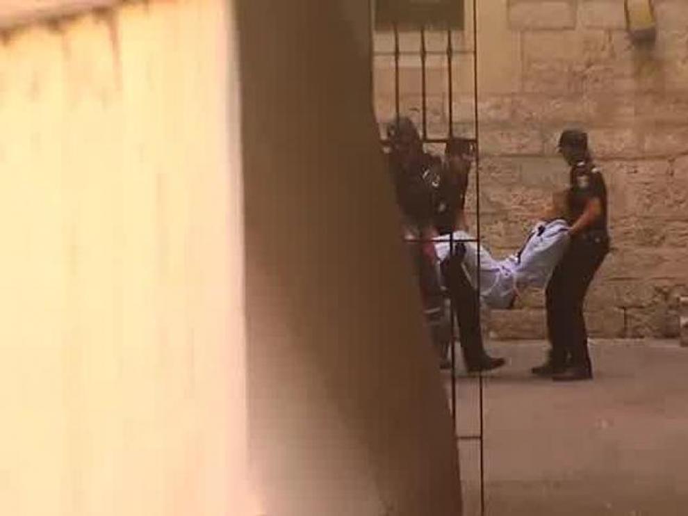 La 'viuda negra' de Alicante cuando pasó a disposición judicial
