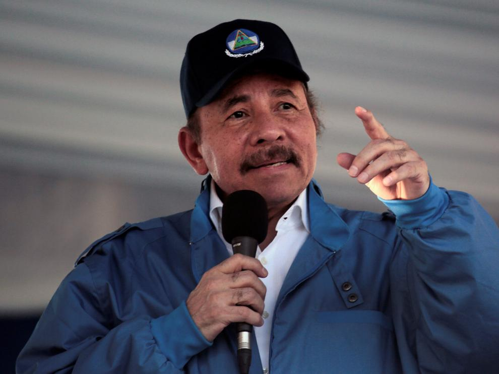 El Presidente de Nicaragua, Daniel Ortega, durante un discurso en Managua.