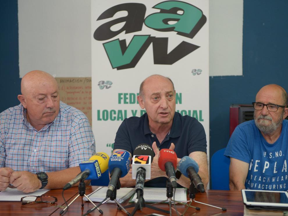 Dirigentes vecinales de Zaragoza, Valencia y Teruel