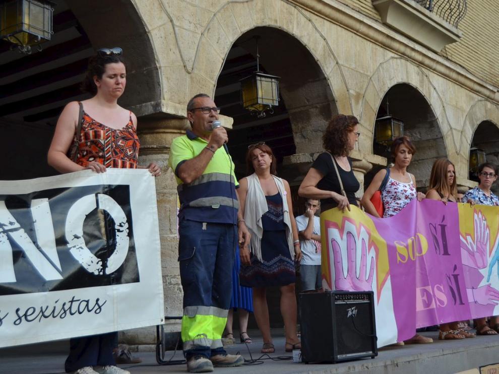 Manifestación en Monzón, una de las ciudades que salió a la calle contra la agresión sexual