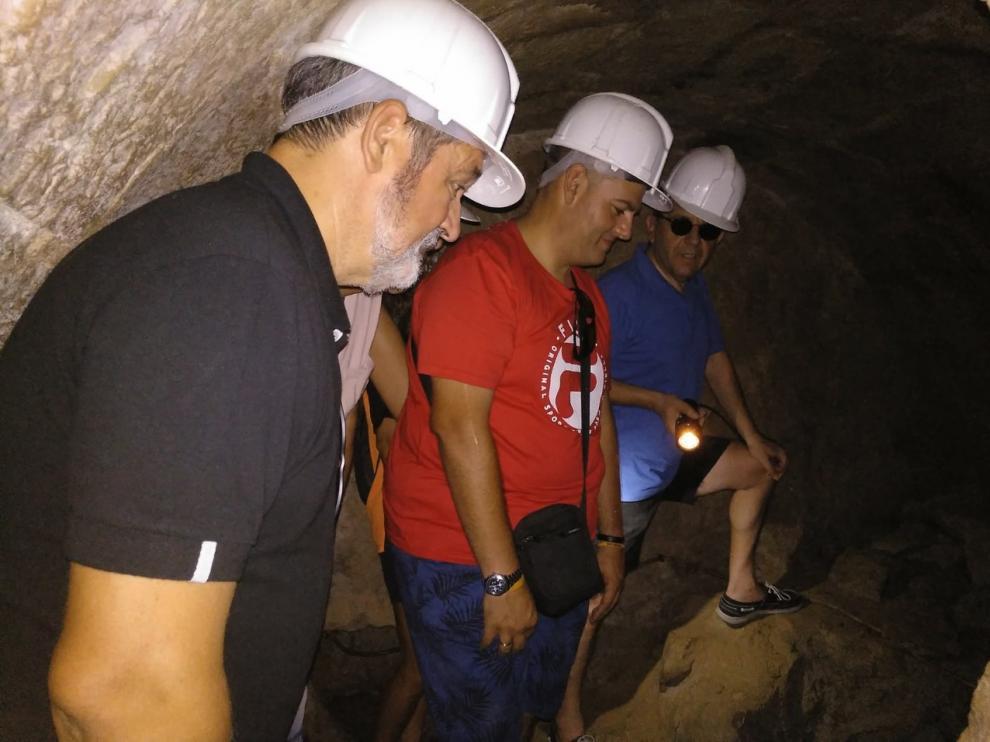 Imagen de la anterior visita a la Fuente d'Abaix.