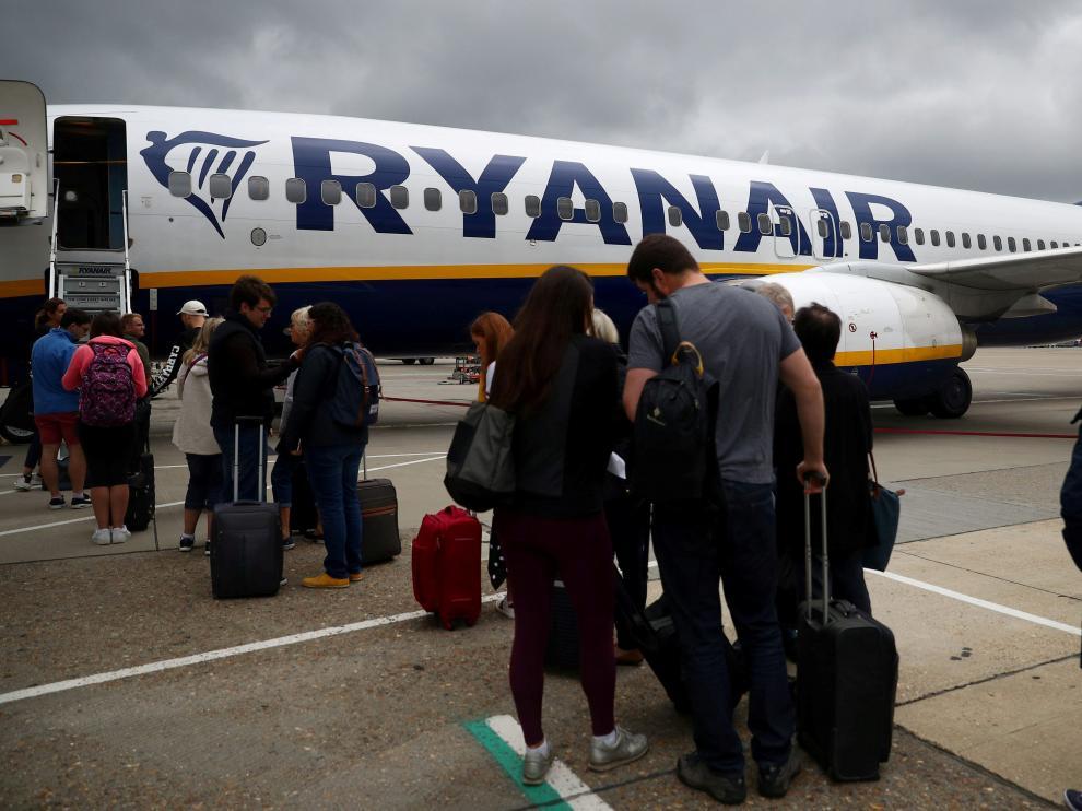 Un vuelo de Ryanair.