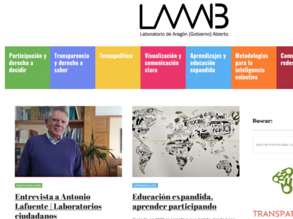 El Laboratorio de Aragón Abierto se puso en marcha el pasado mes de mayo.