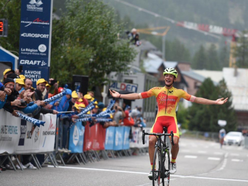 El aragonés Fernando Barceló se impone en solitario en la novena etapa del Tour del Porvenir