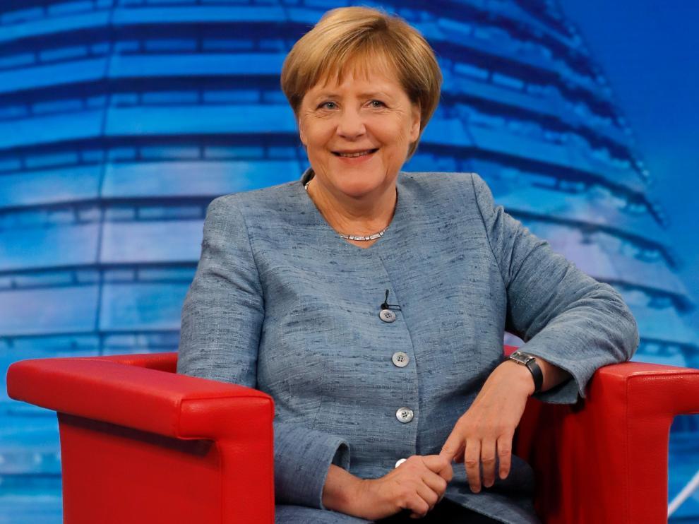 Merkel durante la entrevista concedida este fin de semana.