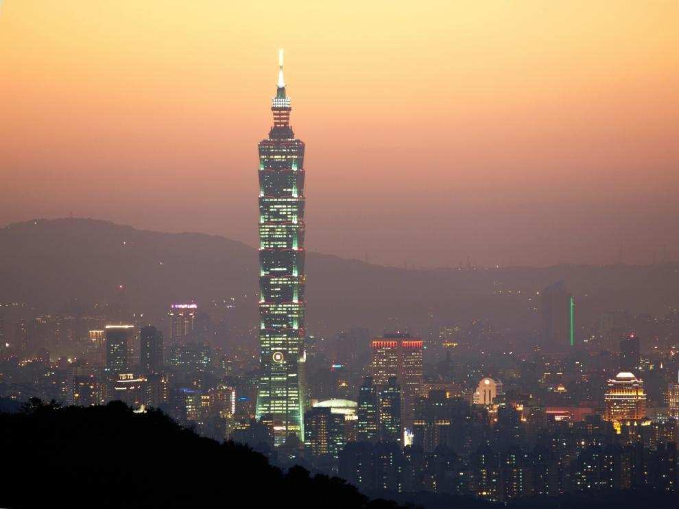 Vista de la ciudad de Taipei, en Taiwan.