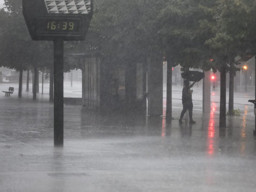 Las precipitaciones podrían dejar en las Cinco Villas e Ibérica Zaragozana hasta 15 litros.