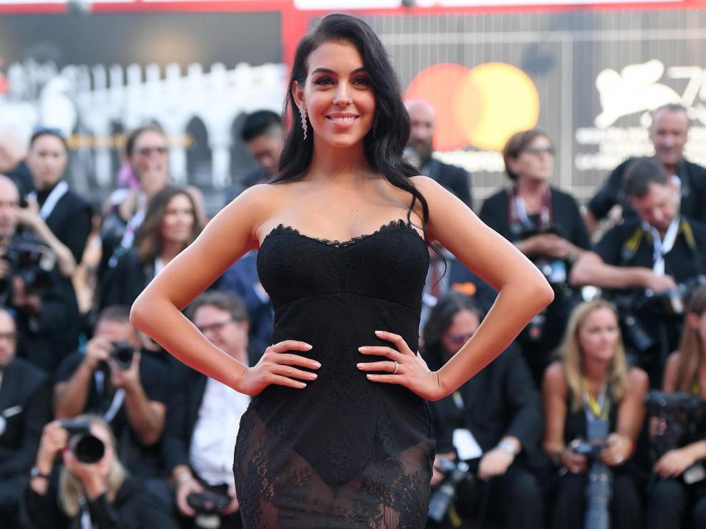 Georgina Rodríguez en la apertura del 75º Festival Internacional de Cine de Venecia.