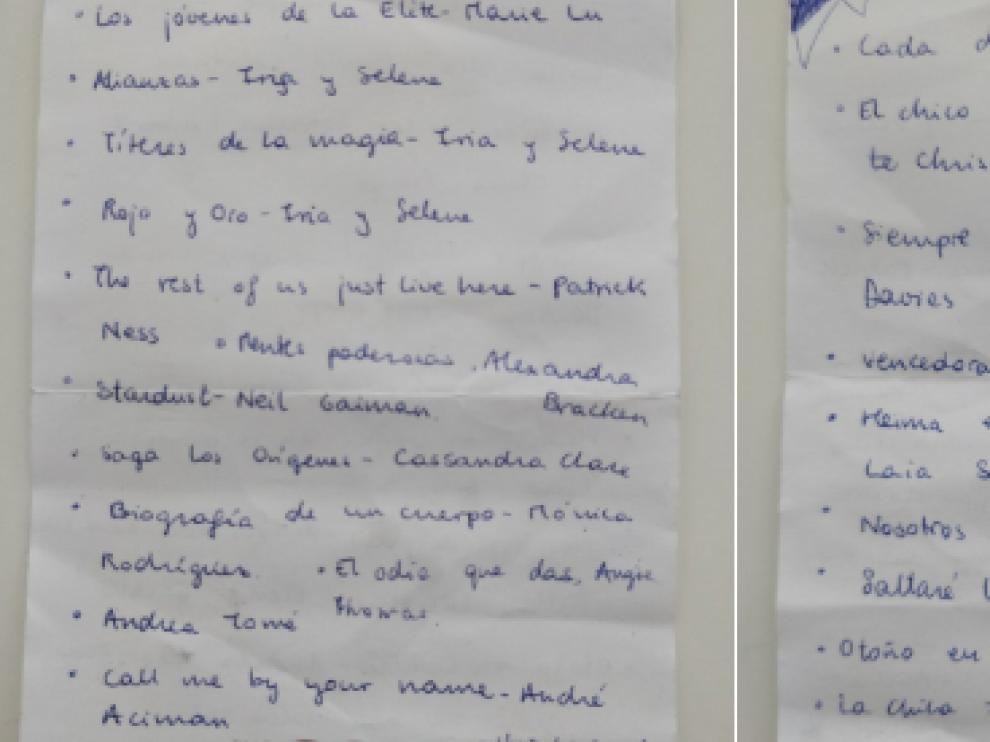 La historia de una lista de libros perdida en Zaragoza…con final feliz