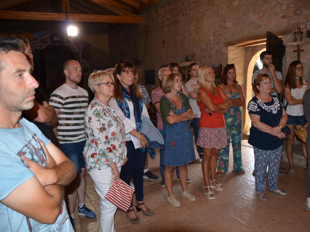 El Ayuntamiento de Lobera organizó una exposición de fotos sobre la despoblación.