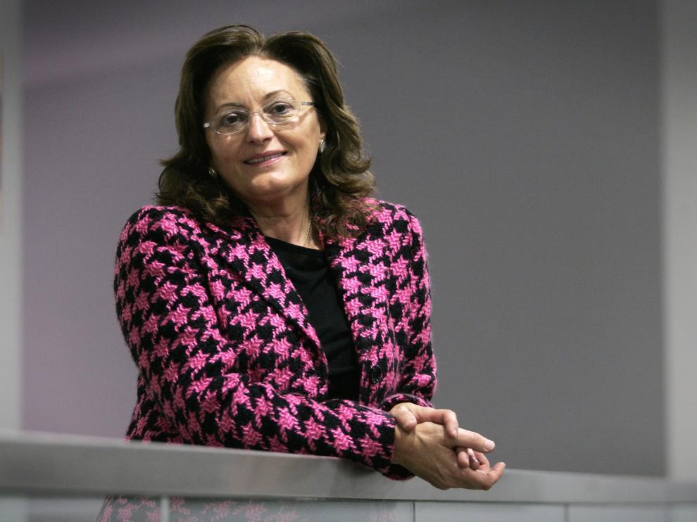 Mercedes Navarro, presidenta de la Asociación de Familias de Aragón (Afada), en una foto de archivo.