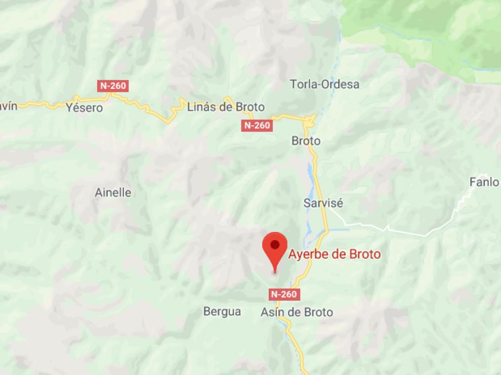 El accidente ocurrió entre Broto y Ayerbe de Broto, en una pista forestal