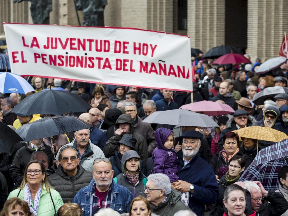 Manifestación por unas pensiones dignas en Zaragoza