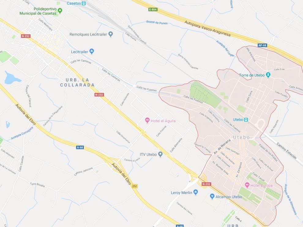 El conductor detenido protagonizó una peligrosa huida en el casco urbano de Utebo.