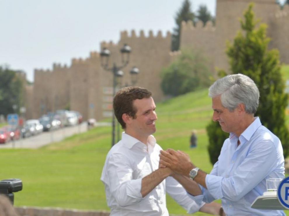 Pablo Casado y Suárez Illana, en Ávila