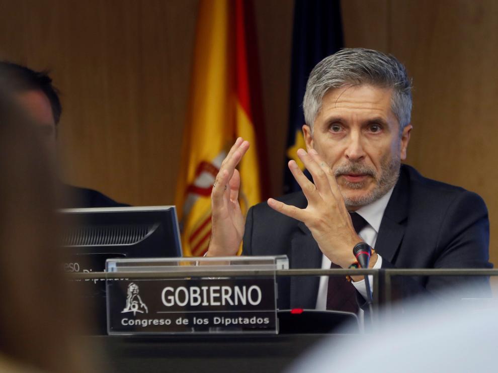 Fernando Grande-Marlaska, ministro del Interior, en imagen de archivo.