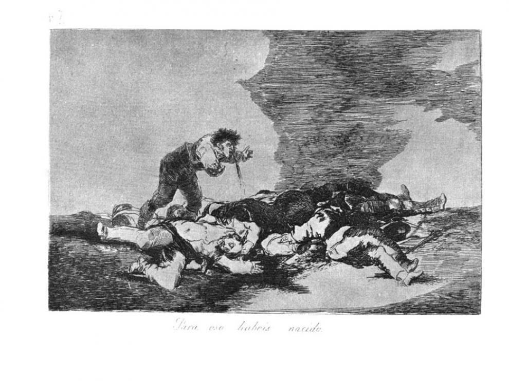 Estampa de 'Los Desastres de la Guerra' de Francisco de Goya.