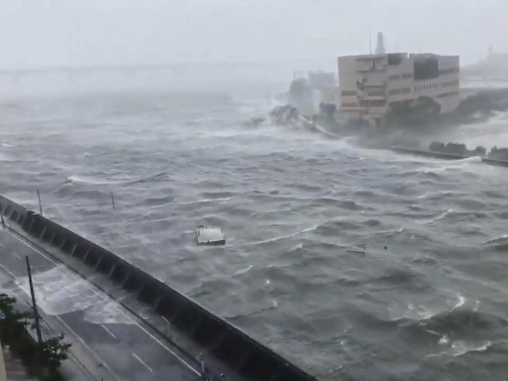 Fuertes vientos registrados en la ciudad de Nishinomiya