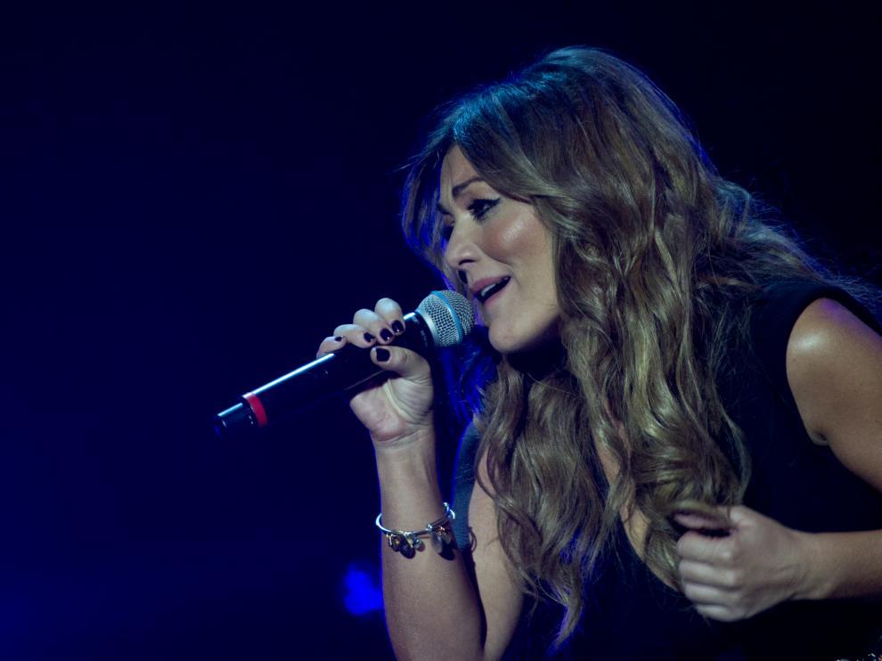 Amaia Montero, durante una de sus actuaciones.